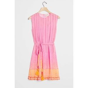 Anthropologie Lucille Mini Pink Dress Small P